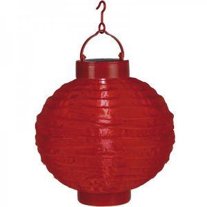 Lampion solaire couleur rouge - STAR