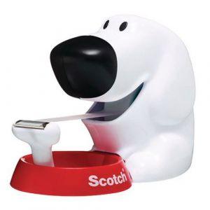 Scotch Dévidoir forme chien - avec rouleau adhésif Magic 19 mm x 7,5 m