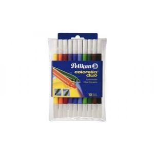 Pelikan Etui de 10 feutres de coloriage Pelikan Colorella Duo C407