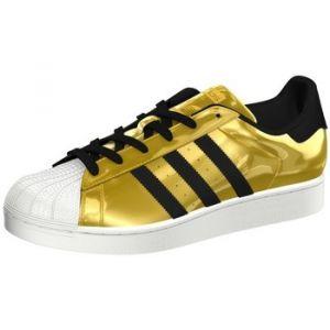 Adidas Superstar W, Chaussures de Fitness Femme, Multicolore-Doré/Noir/Blanc