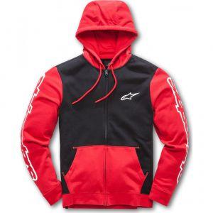 Alpinestars Sweat zip capuche Machine rouge/noir - L