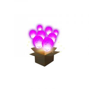 SkyLantern Lanterne Volante Balloon Rose x3 - Rose Fuchsia
