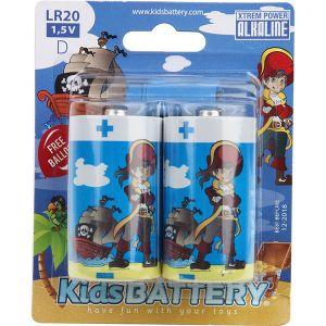 Kidsbattery Lot de 2 piles LR20 alkaline Pirates