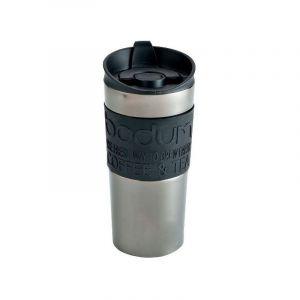 Bodum Mug 0.35 L double paroi Inox Finition Gris Métal - Travel Mug