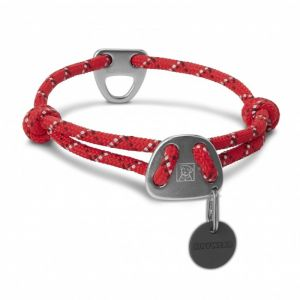 Ruffwear Collier en corde pour chien, Chiens de grande à très grande taille, Taille ajustable, Bandes réfléchissantes, Taille: L (51-66 cm), Rouge (Red Currant), Knot-a-Collar, 25602-6152026