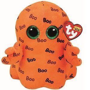 Ty Beanie Boo Ghoulie Orange Ghost Medium - Occasion