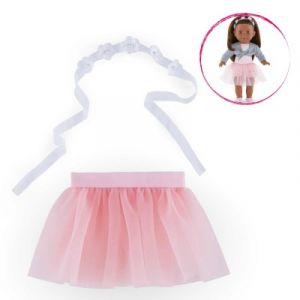 Corolle Tutu rose et bandeau à fleurs - Vêtement pour poupée 36 cm