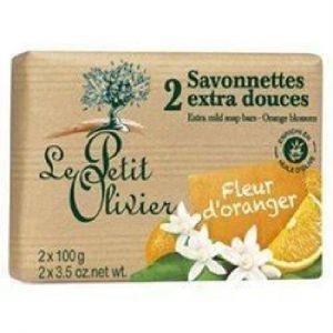 Le Petit Olivier 2 Savonnettes extra douces - Fleur d'oranger