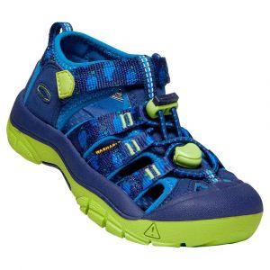 Keen Newport H2, Sandale Mixte Enfant, Bleu (Profondeurs Bleues/ Chartreuse), 24 EU