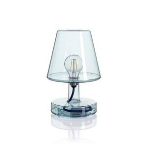 Fatboy Lampe sans fil Transloetje / LED - Ø 16 x H 25 cm bleu transparent en matière plastique