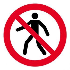 Novap Disque d'interdiction adhésif au sol - INTERDIT PIETONS