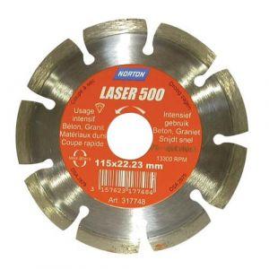 Norton clipper Disque diamant - Laser 500 - D: 115 mm