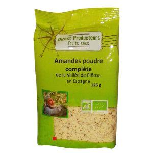 Direct producteurs fruit secs Amandes poudre complète de la vallée de Pinoso Bio - 125 g