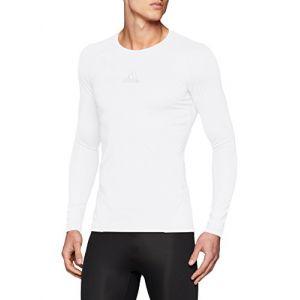 Adidas Alphaskin T-shirt à manches longues Pour homme M White