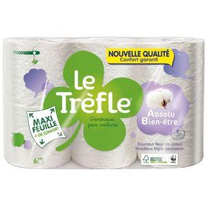 Le trèfle Papier toilette Maxi Feuille Absolu bien-etre x6