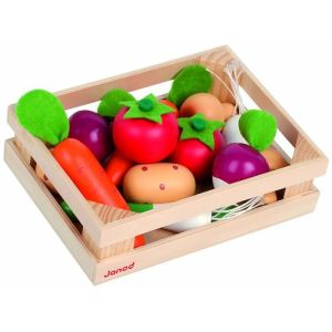Janod Cagette en bois de 12 légumes