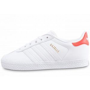 Adidas Soldes - Baskets/Tennis Gazelle Enfant Blanche Et Orange Enfant