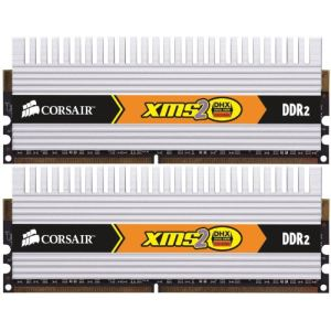 Corsair TWIN2X4096-6400C5DHX - Barrettes mémoire 2 x 2 Go DDR2 800 MHz CL5 240 broches