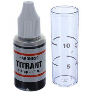 Test TH de dureté de l'eau - Détermine la dureté totale de l?eau en °f - Utile pour vérifier le bon fonctionnement d?un adoucisseur.