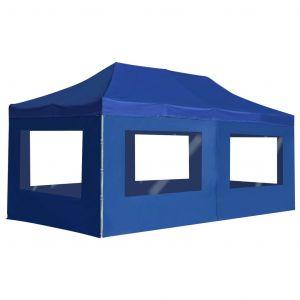 VidaXL Tente de réception pliable avec parois Aluminium 6 x 3 m Bleu