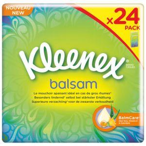 Kleenex Balsam mouchoir en papier - Lot de 4x 24 Pièce