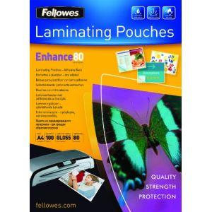 Fellowes 100 pochettes adhésives Peel Stick avec 180 microns (A4)