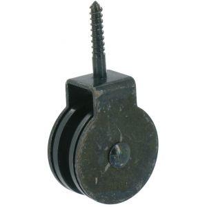 Poulie à tirefond plastique Diamètre 30 mm