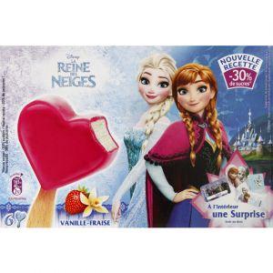 Bâtonnets La Reine des Neiges vanille fraise - Les 6 bâtonnets, 258g