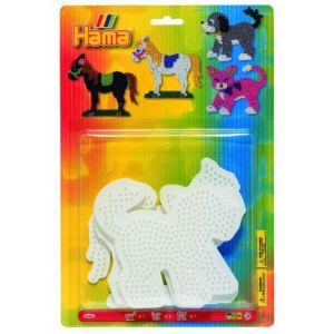 Hama Plaque pour perles à repasser : Animaux domestiques