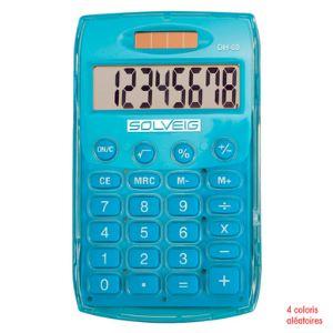 Solveig Calculatrice de poche solaire 8 chiffres