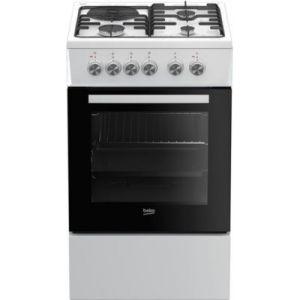 Beko FSS53000DW - Cuisinière mixte 3 foyers gaz avec four électrique