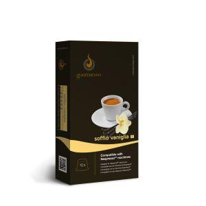 Gourmesso 10 capsules Soffio Vaniglia (intensité 5) compatibles avec les machines Nespresso
