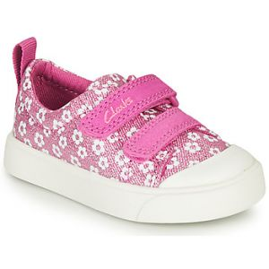 Clarks Baskets basses enfant CITY BRIGHT T - Rose - Taille 20,21,22,23,24,25,26,27