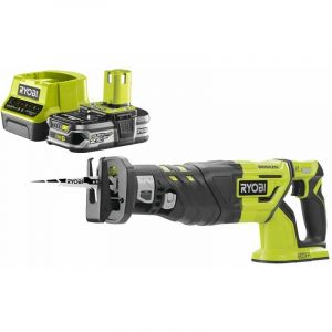 Ryobi Pack Scie sabre Brushless 18V OnePlus R18RS7-0 - 1 Batterie 2.5Ah - 1 Chargeur rapide RC18120-125
