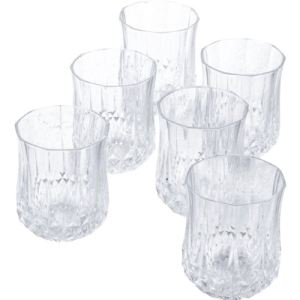 Cristal d'Arques 6 verres bas Diamax Longchamps en cristal (23 cl)