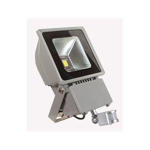 Vision-El Projecteur Led 100W (900W) Ext IP65 Blanc chaud avec détecteur -