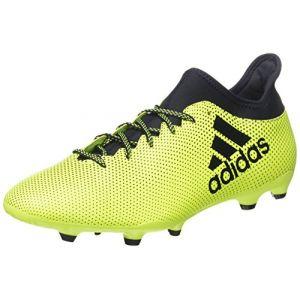 Adidas X 17.3 FG, Chaussures de Football Homme, Blanc, Multicolore (Solar Yellow/Legend Ink/Legend Ink), 46 EU