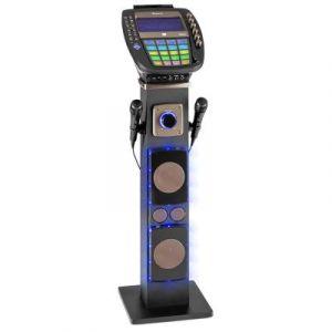 Auna KaraBig Chaîne Karaoké Bluetooth LED Ecran TFT 7 lecteur CD USB + 2 micros