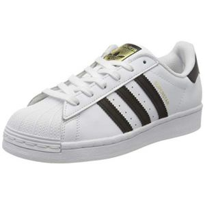 Adidas Chaussures sport Superstar à bandes contrastantes Blanc - Taille 38 2/3