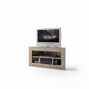 Brooklyn - Meuble TV d'angle chêne gris