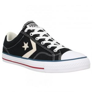 Converse Lifestyle Star Player Ox Canvas, Chaussures de Fitness Mixte Adulte, Noir (Black/Milk 009), 44 EU (10 UK)