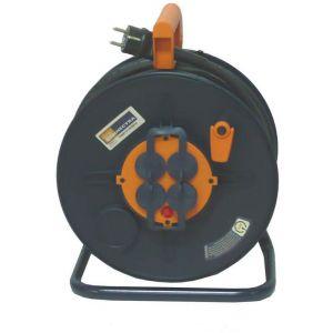 Anjou connectique Enrouleur de câbles 3G 2,5 (25m) + 4 Prises -