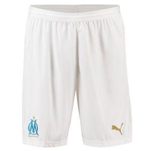 Puma Olympique de Marseille Replica Short sans Slip Intégré Homme, Blanc (White/Bleu Azur), XX-Large