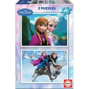 Educa Puzzles La Reine des Neiges 2x48 pièces