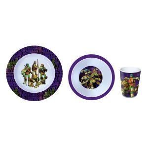 Set repas 3 pieces céramique Tortue Ninja