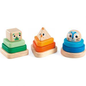 Djeco Lot de 3 culbutos Pyramidou