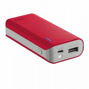 Trust Batterie de secours PowerBank Primo - 4400 mAh - Rouge