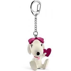 Schleich 22037 - Porte-clés Snoopy Belle avec coeur