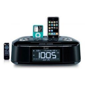 iLuv iMM173 - Station d'accueil double dock radio réveil pour iPhone & iPod
