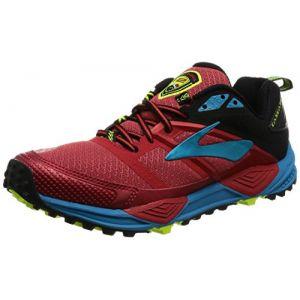 Brooks Cascadia 12, Chaussures de Gymnastique Homme, Rouge (High Risk Red/Black/Vivid Blue), 42.5 EU